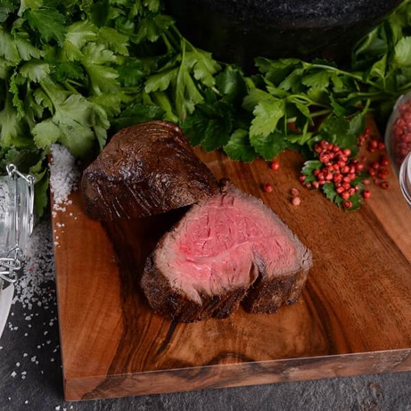 Rinder Filet aus Uruguay fertig zubereitet