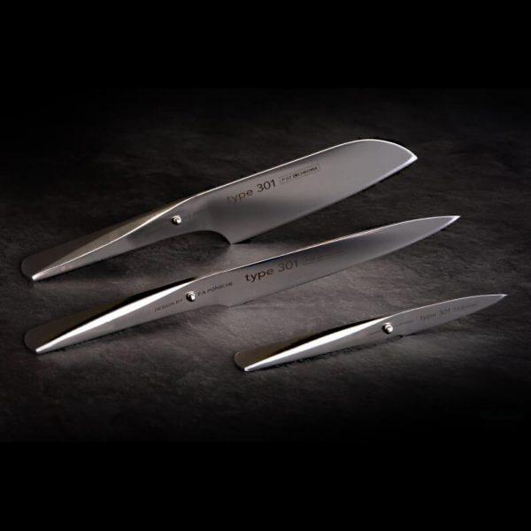 Messerset Chroma P-529 ➤ Messerset Chroma 3 teilig im Porsche Design ür deine Profiküche! Ferdinand A. Porsche hat die Messer der CHROMA entwickelt.