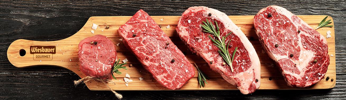 NEU im Wiesbauer-Gourmet Online Shop! Premium Fleisch online kaufen! ✓ Rindfleisch ✓ Schweinefleisch ✓ Kalbfleisch ✓ Lammfleisch ✓ Exoten ✓ Steaks ...