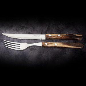 Steak-/Pizzamesser Set CHURRASCO 12 teilig. TRAMONTINA kaufen. Hochwertiges, 12-teilige Steakmesser- und Gabel Set von TRAMONTINA online kaufen