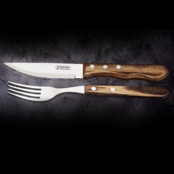 TRAMONTINA Steakmesser - Steakmesser Gaucho braun 8-tlg. online kaufen ➤ Die besten Steakmesser online kaufen ✓ robuste Stahlklinge ✓ scharfe Zähne!