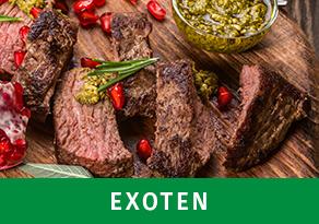 Exoten kaufen im Wiesbauer Gourmet Online Shop. Premium Fleisch zum Top Preis