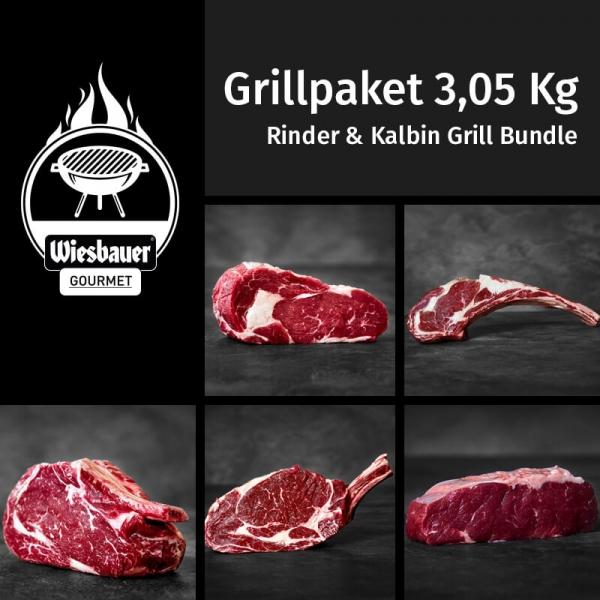 Rinder, Kalbin Bundle 3,05Kg Grillpaket. Grillfleisch Steaks, Beiried kaufen. Rinder Rib Eye Steak, Kalbin Tomahawk Steak dry aged, Cultbeef Prime Rib, uvm.
