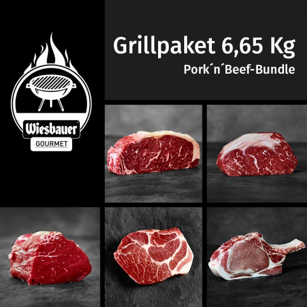 Grillpakete 6,65 Kg Pork n Beef Bundle
