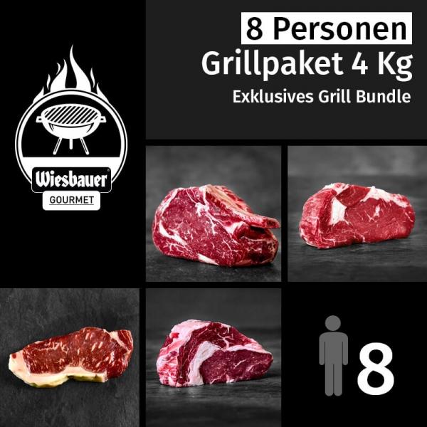 Grillpaket 4 Kg Grillfleisch für 8 Personen. 13 BBQ Fleischstücke online kaufen. Wiesbauer-Gourmet Grillpakete jetzt online bestellen. Bestes Grillfleisch