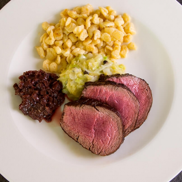 Rinderfilet Steak fertig zubereitet