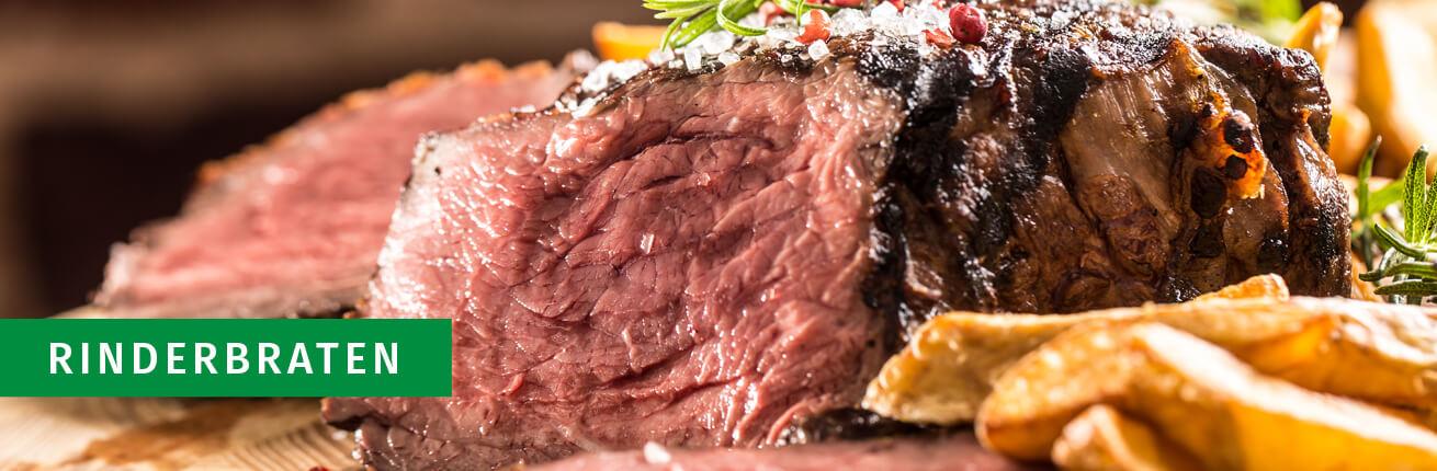 Rinderbraten online kaufen. Premium Bratenfleisch vom Rind, Rindsbraten. Das beste Rindfleisch für Ihren Braten! Rinder Bratenfleisch in bester Qualität >