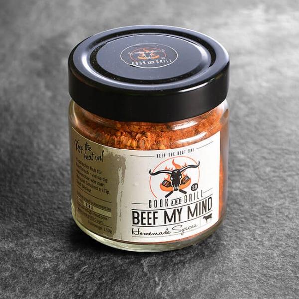 Beef My Mind - Gewürzmischung Beef 150 g kaufen. Beef My Mind kaufen. Ideal für Beef / Rindfleisch Gerichte. Beef my Mind von Grillmeister Marcel Ksoll!