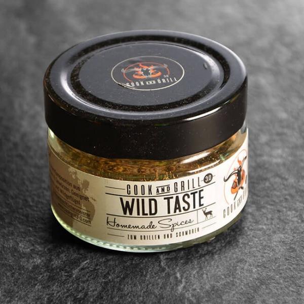 Wild Taste - Gewürzmischung Wildgerichte 40 g kaufen. Wild Taste kaufen. Ideal für Wildfleisch Gerichte. Wild Taste Gewürz von Grillmeister Marcel Ksoll!
