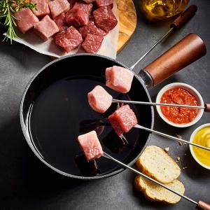 Fondue Fleisch Paket - Premium Fleisch Fondue zum top Preis online kaufen! Hochwertiges Filet für Fondue der Extraklasse von Wiesbauer-Gourmet!