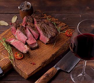 Flank Steak, Bier und Wein zu Ihrem Flank Steak