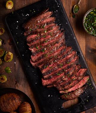 Flank Steak, die Qualität ist eine Frage der Herkunft. Premium Flank Steak aus den USA kaufen bei Wiesbauer-Gourmet