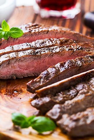 Flank Steak Grillen und Braten in der Pfanne oder am Grill, Wiesbauer Gourmet