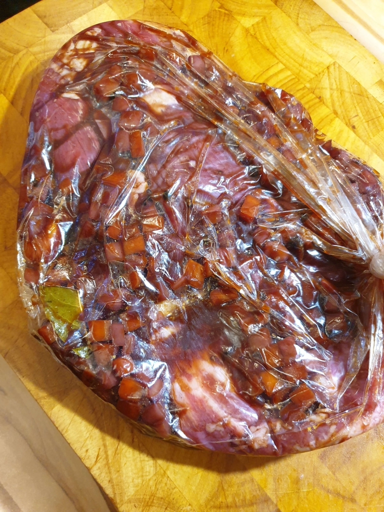"Olvahh´s Flanksteak-Roulade ""Hausfrauenart"" mit Apfel-Rotkohl"
