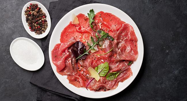 Carpaccio online kaufen bei Wiesbauer Gourmet. Carpaccio kaufen, Carpaccio bestellen, Carpaccio online bestellen