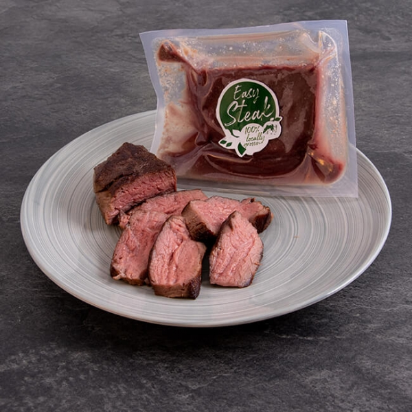 Easy Steak Hüftsteak 250 g = 1 Steak ➤ gelingsischeres, Sous-vide Hüft Steak. Regionales Fleisch, servierfertig in nur wenigen Minuten. Hüftsteak Steak