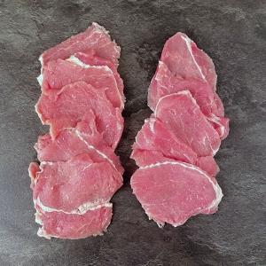 Surschnitzel aus Österreich 85 g = 10 Stk 850 g ➤ Surschnitzel - heimische Schweine, frisch geliefert von Wiesbauer Gourmet. Schweins Surschnitzel kaufen!