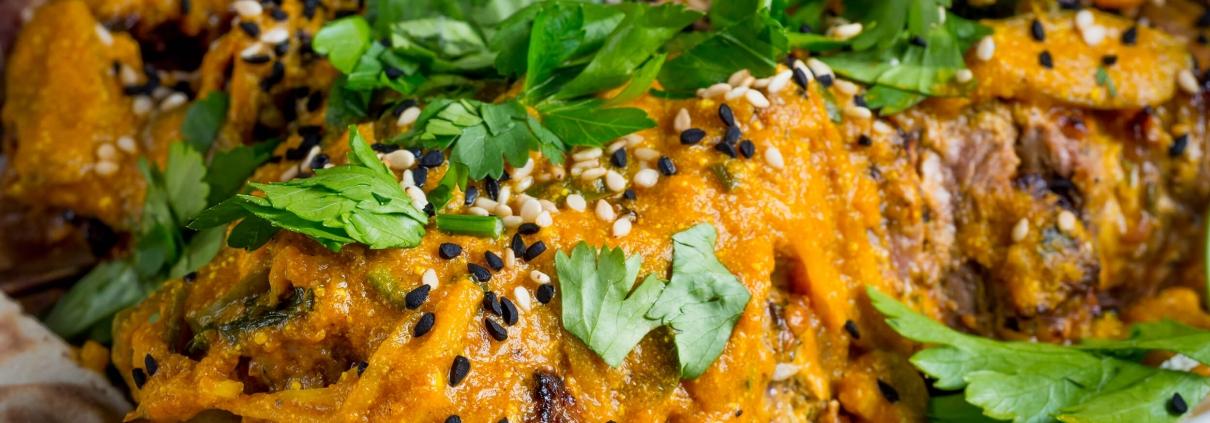 """Olvahh´s Lammspieße """"orientalisch"""" mit Gemüsetajine und Joghurt-Ingwer-Soße"""