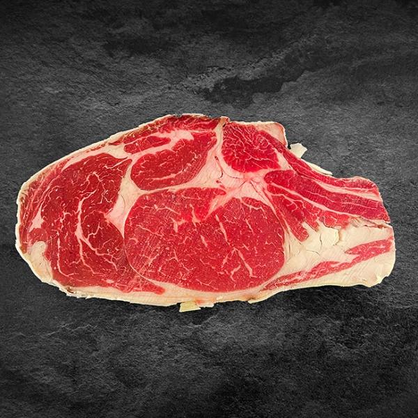 Rinder Prime Rib Steak dry aged USA kaufen ➤ Rinder Primerib Dry Aged / USA (400 g) kaufen! Das Rinder Prime Rib Steak dry aged USA kaufen. Top Qualität!