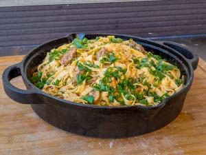 Olvahh´s Pasta mit Reh und Pilzen