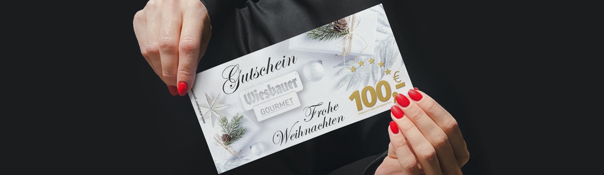 Wiesbauer Gutschein, Wiesbauer-Gourmet Gutschein Aktion, Gutscheine Wiesbauer kaufen