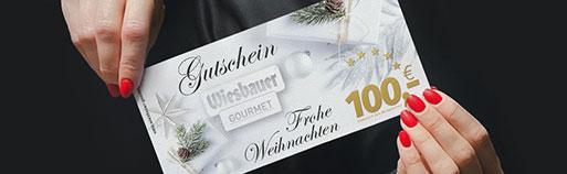 Wiesbauer Gourmet Gutscheine, Weihnachtsgutscheine online kaufen